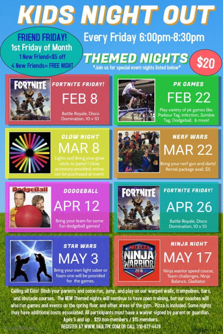 KIDS NIGHT OUT Themed Nights!