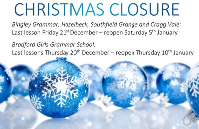 Christmas and New Year closure dates