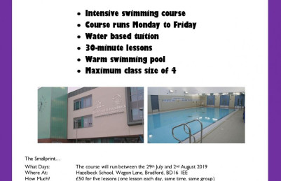 Summer Swim Course at Hazelbeck School, BD16 1EE