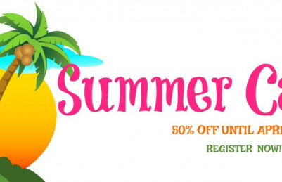 SUMMER CAMPS!  25% off until MAY 1ST!