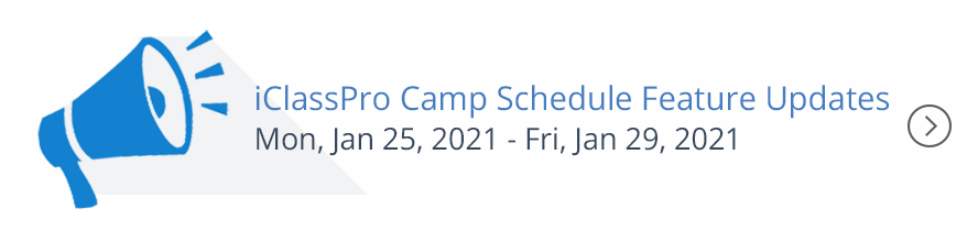 Camp Schedule Feature Updates